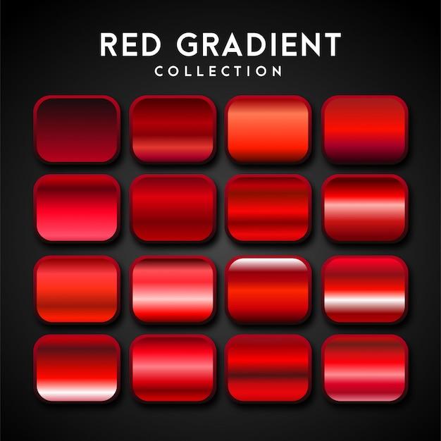 Premium-set mit rotem farbverlauf