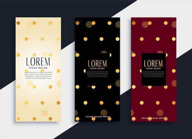 Premium-set von polka dots muster banner