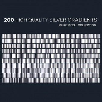 Premium silber farbverläufe farbpalette