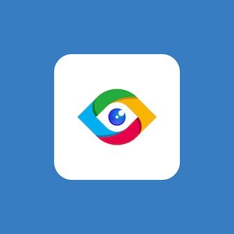 Premium tech eye logo vorlage