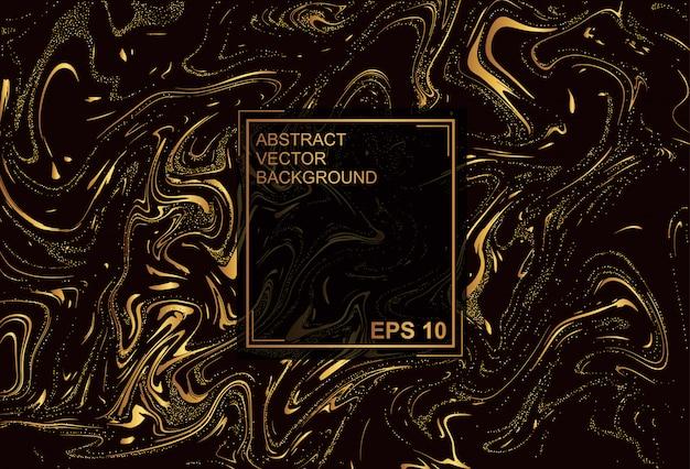 Premium-textur. goldener schwarzer hintergrund