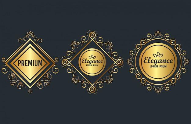 Premium und eleganz setzen rahmen