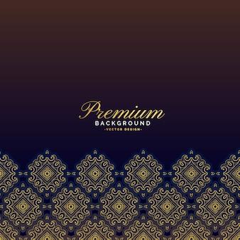 Premium-vintage-luxus-hintergrund-design