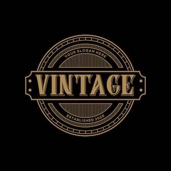 Premium-vorlage des eleganten logo-vintage-designs von abstrack
