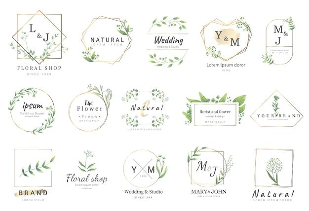 Premium-vorlagen für florale logos