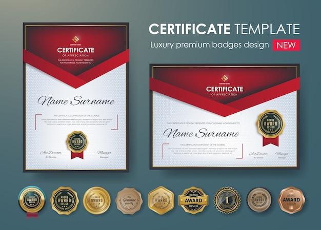 Premium-zertifikat diplom design-vorlage
