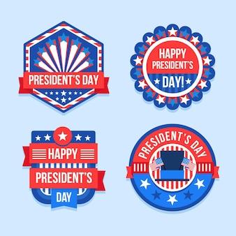 Presidents day abzeichen sammlung