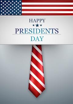 Presidents day in den usa. nationale amerikanische feiertagsillustration. vektor-illustration