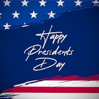 Presidents day in flaches design