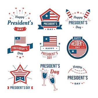 Presidents day label-auflistung