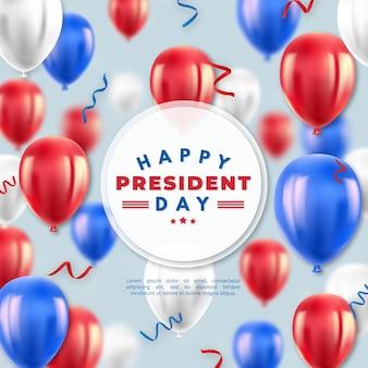 Presidents day mit realistischen luftballons