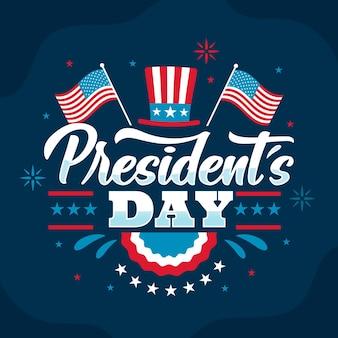 Presidents day schriftzug