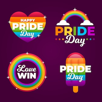 Pride day etiketten design