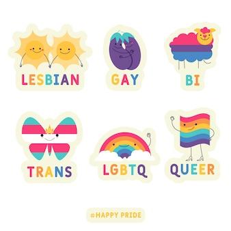 Pride day etiketten sammlung