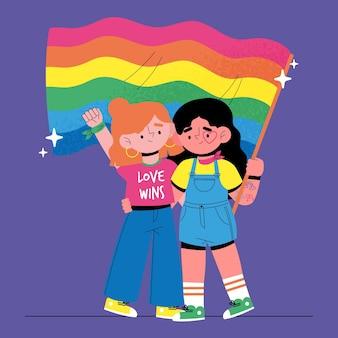 Pride day event flagge