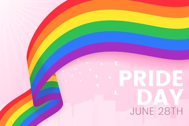 Pride day flag band hintergrund