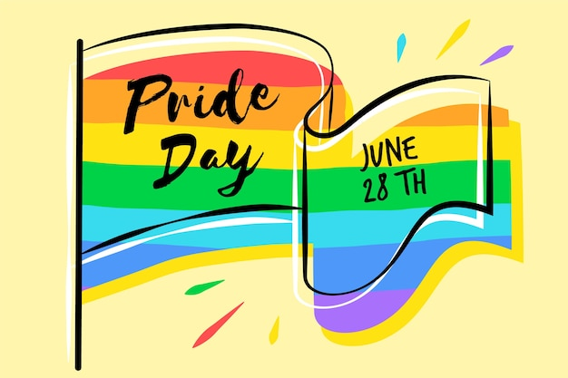 Pride day flag farben des regenbogens