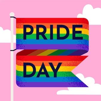 Pride day flag illustration