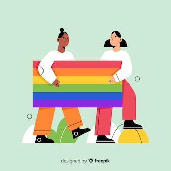 Pride day flag mit regenbogenfarben