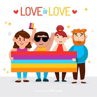 Pride day flagge hintergrund