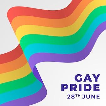 Pride day flagge mit regenbogen