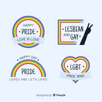 Pride day flat label kollektion