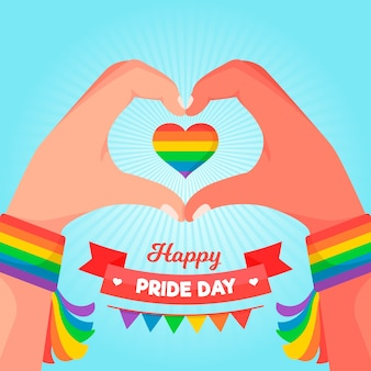 Pride day konzept illustration