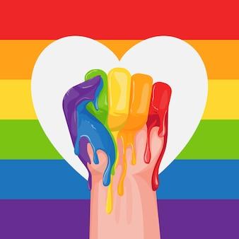 Pride day konzept mit farbe