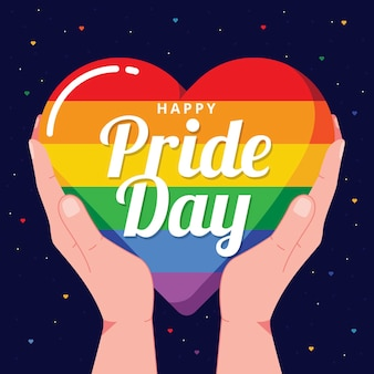 Pride day konzept mit herz