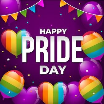 Pride day konzept mit luftballons