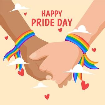 Pride day konzept mit paar