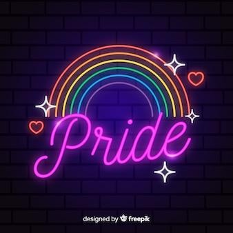 Pride day-konzept mit regenbogen