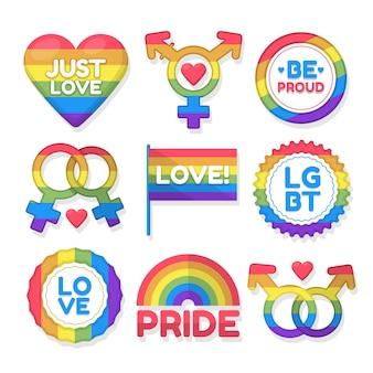 Pride day label set