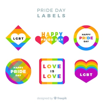 Pride day labels-auflistung