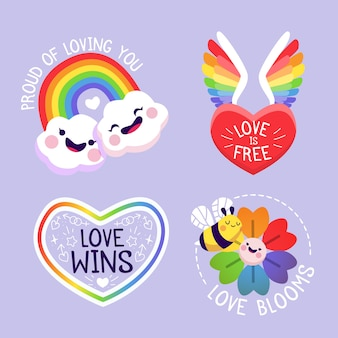 Pride day labels gesetzt