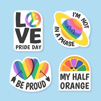Pride day labels konzept