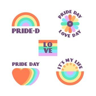 Pride day labels stil