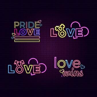 Pride day leuchtreklame sammlung thema