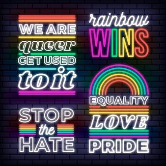 Pride day leuchtreklame sammlung