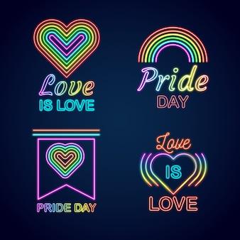 Pride day leuchtreklamen design
