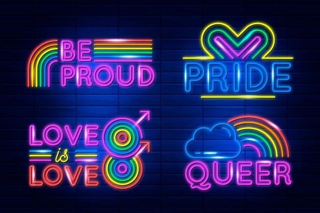 Pride day leuchtreklamen gesetzt