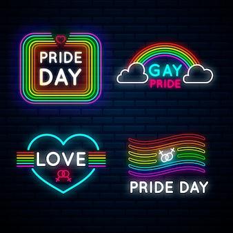 Pride day leuchtreklamen-konzept