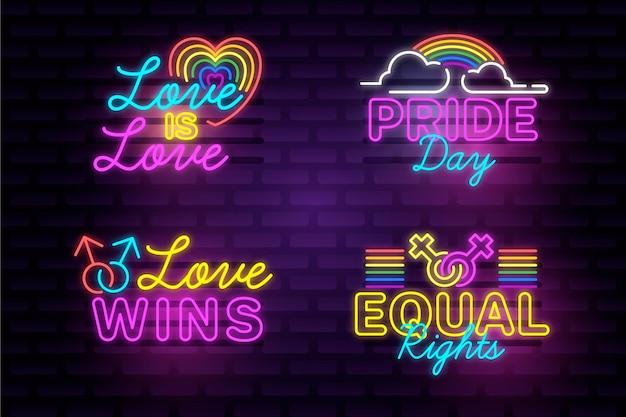 Pride day leuchtreklamen pack