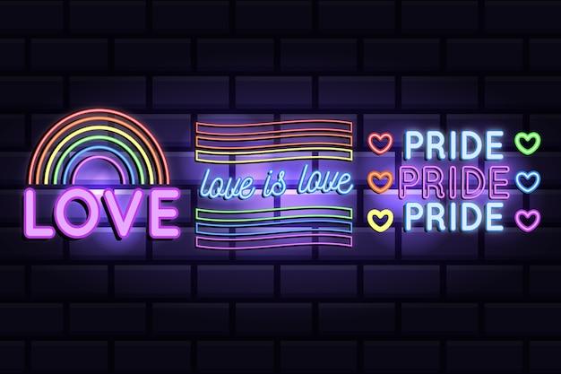 Pride day leuchtreklamen stil