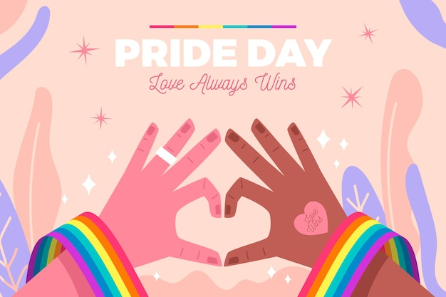 Pride day liebeskonzept