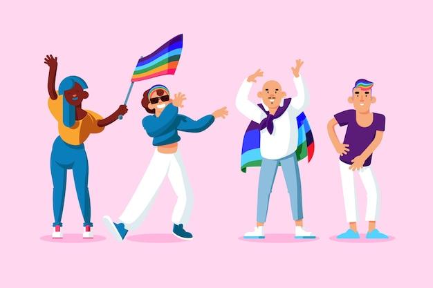 Pride day people-konzept