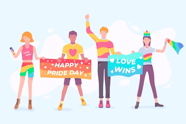 Pride day people-konzept