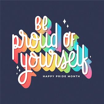 Pride day regenbogen schriftzug