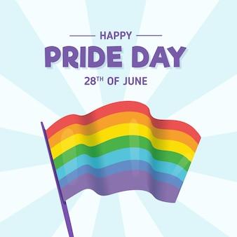 Pride day regenbogenfahne