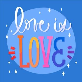 Pride day schriftzug mit liebe